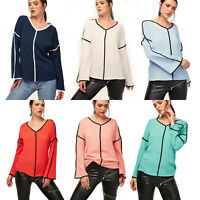 Womens V Neck Chiffon Shirt Bell Sleeve Casual Tee Loose Blouse Long Sleeve Tops