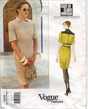 1935 Vogue Pattern Claude Montana Paris Original Misses' Dress  Size 12-14-16 UC