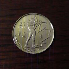 Canada 2007 Vancouver 2010 Olympic Biathlon 25 cent Roll