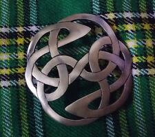Scottish Fly Plaid Brooch Lindisfarne Antique Finish/Ladies Women Brooch Metal