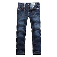 FOX JEANS Men's Taylor Regular Fit  Straight Blue Denim Jeans SIZE 32-44