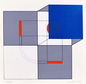 "AGOSTINO BONALUMI - ""Komposition II"", handsignierter Siebdruck, 1973! TOP!"