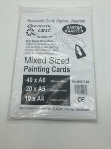 New Encaustic Art Mixed Sized Painting Cards High Quality White Card #995377.00