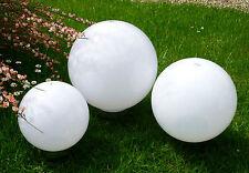 3er Set LED Solarleuchte 30,25,20 cm Leuchtkugel Kugelleuchte Außen Lampe Garten