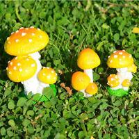 Resin Craft Miniature Mushroom Figurines Fairy Garden Supply Landscap Decor