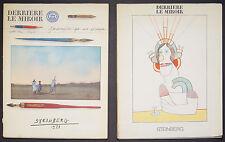 Saul Steinberg Derriere le Miroir No. 205 and 224 original lithographs
