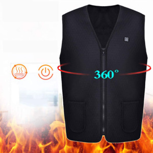 Electric Heated Vest, Washable USB Heating Jacket Heating Body Warmer Gilet with