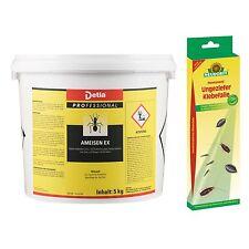 Detia - Ameisen-Ex 5kg Ameisengift Ameisenköder plus eine Ungeziefer Klebefalle