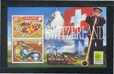 SINGAPORE 2000 NABA 2000 SWITZERLAND STAMP EXHIBITION SHEET 2 STAMPS DRAGON MINT