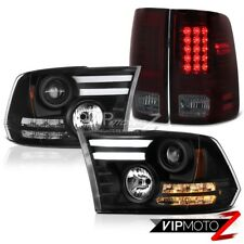 09-18 Dodge Ram 1500 5.7L Tail lamps black projector headlights SMD Tron Style