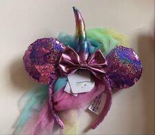 Disney Minnie Mouse Unicorn Holographic Sequin Ear Headband
