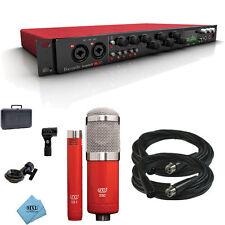 Focusrite Scarlett 18i20 USB 2.0 Audio Interface With MXL 550/551R Microphones &