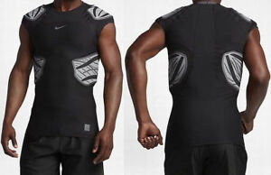 Nike Mens Pro Hyperstrong 4 Pad Padded American Football Shirt Top Black Grey L