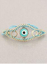 Inspriational Evil Eye Chinese Knot Cord Adjustable Bracelet