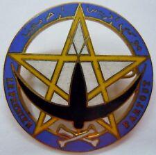 Insigne 4° Bataillon 1° RTM Tirailleurs Marocains Levant 1939 WWII ORIGINAL