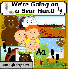 WE'RE GOING ON A BEAR HUNT teaching resources STORY SACK ks1 EYFS  Resource cd