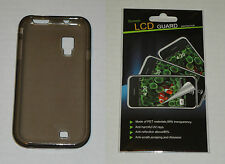 Grey TPU Soft Gel Skin Case & Screen Protector For Samsung Fascinate i500