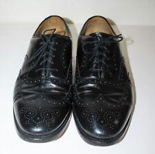 VTG JOHNSTON & MURPHY Men's Black Dress Shoes - Vibram Heels - Size: 10.5(D/B)
