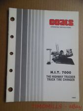COATS H.I.T. 7000 Truck Tire Changer Operating Instructions Manual Vintage ORIG.