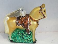 Western Horse  Old World Christmas glass ornament
