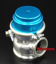 60MM 14 PSI External Wastegate Turbo Stainless Steel Dump Valve Blue