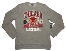 NBA UNK Chicago Bulls Retro Style Grey Crewneck Sweatshirt Mens Size Large New