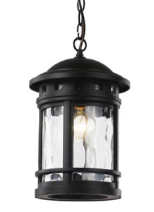 "Trans Globe Lighting 40375-RT Boardwalk 1 Light 9"" Rust Outdoor Hanging Lantern"