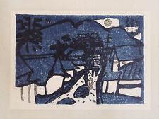 Night,car, Kadowaki Shunichi:Japanese print original Sosaku hanga 1971,41