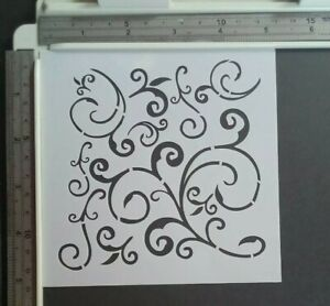 Scroll Scrolls Stencil Scrapbooking Card Making Airbrush Painting Home Decor Art