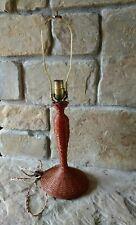 Antique Vintage Wicker Lamp Base Mission Arts & Crafts Craftsman