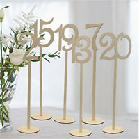 1-10 Wooden Table Numbers Set with Base Birthday Wedding Party Decorations AT