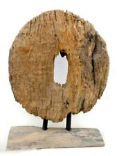 Asia Antique Wood Wheel With Wood Stand