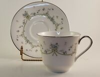 Vintage Royal Doulton Teacup and Saucer Set Demure Pattern Fine Bone China