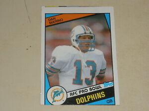 1984 Topps Football AFC Pro Bowl #123 Dan Marino Rookie RC