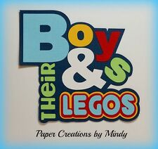 CRAFTECAFE MINDY LEGOS TOYS DIE CUT premade paper piecing TITLE scrapbook page