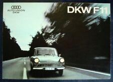 AUTO UNION - DKW F11 CAR SALES BROCHURE C 1962.