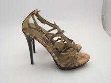 Authentic Burberry Check Haymarket Platform Heels Sandals Shoes Size EU40/US10