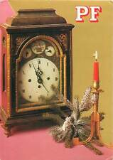 greetings new year christmas candle clock Postcard