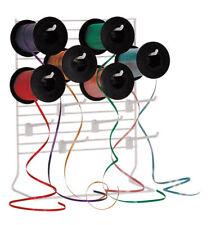 "Curling Ribbon Dispenser 12 Adjustable 6"" Peg Hook White Wire Rack Hooks 12 x 15"