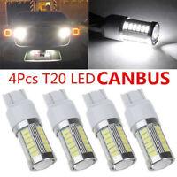 4 X T20 7440 7443 W21W 33 SMD-LED Canbus Kein Fehler Rückfahrbremsleuchte weiß