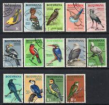 Botswana 1967 QEII Birds set SG 220-233 used