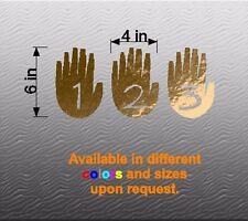 """Vinyl Decal Sticker. Car, Window, Wall... Gravity Falls Journal Hands (6"""" x 12"""")"""