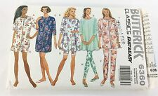 Butterick Sewing Pattern 6360 Misses Miss Petite Pajama and Nightshirt Size XS-L