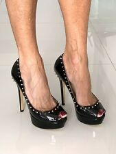 OnlyMaker High Heel shoes, Black With Awsome Spikes. Size 7 NEW
