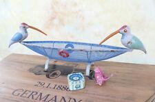 Dekokorb Obstkorb Obstschale Gemüsekorb Vogel Eisen Schiff Boot Korb E16285-a