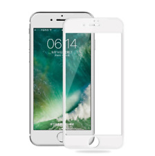 White 3D Full Coverage Tempered Glass Screen Protector Cover iPhoneX 7 8 6s Plus