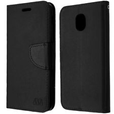 SAMSUNG GALAXY J3 2018/ J3 STAR FULL BLACK FLIP JACKET WALLET HYBRID CASE COVER