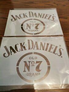 2 x A4 Jack Daniels Reusable Mylar Airbrush Stencils / 190 Micron