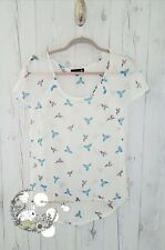 Cotton On white sheer chiffon parrot bird cute hipster kitch blouse top XS 0 2