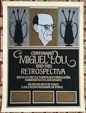 Jose Rosa Cartel Poster Serigraph Miguel Pou Centenario Puerto Rico 1980 MAP ICP